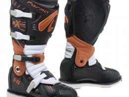 Bottes cross Forma Terrain TX noir/orange/blanc
