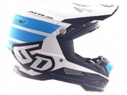 Casque cross 6D ATR-2 Stripe bleu/blanc