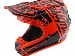 Casque cross enfant Troy Lee Designs SE4 Polyacrylite Factory orange -