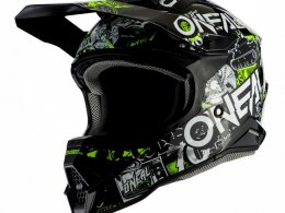 Casque cross ONeal 3SRS Attack 2.0 noir/jaune fluo