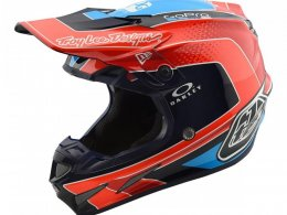 Casque cross Troy Lee Designs SE4 Carbon Squadra Team orange