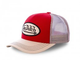 Casquette Von Dutch Colors Rouge/Blanche