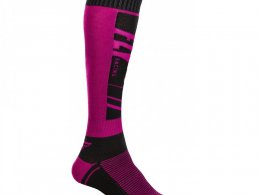 Chaussettes Fly Racing MX Socks Thick bleu/poupre