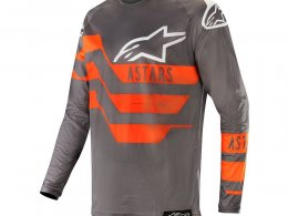 Maillot cross Alpinestars Racer Flagship mid gray/anthracite/orange fl