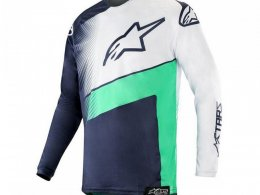 Maillot cross Alpinestars Racer Supermatic dark navy/teal/white