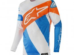 Maillot cross Alpinestars Racer Tech Atomic cool gray/mid blue/orange