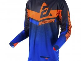Maillot cross Answer Trinity noir/cobalt/orange fluo