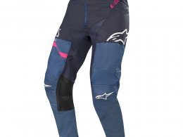 Pantalon cross Alpinestars Racer Flagship indigo/dark navy/rose fluo -