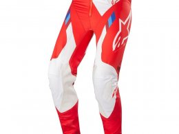 Pantalon cross Alpinestars Supertech rouge/blanc