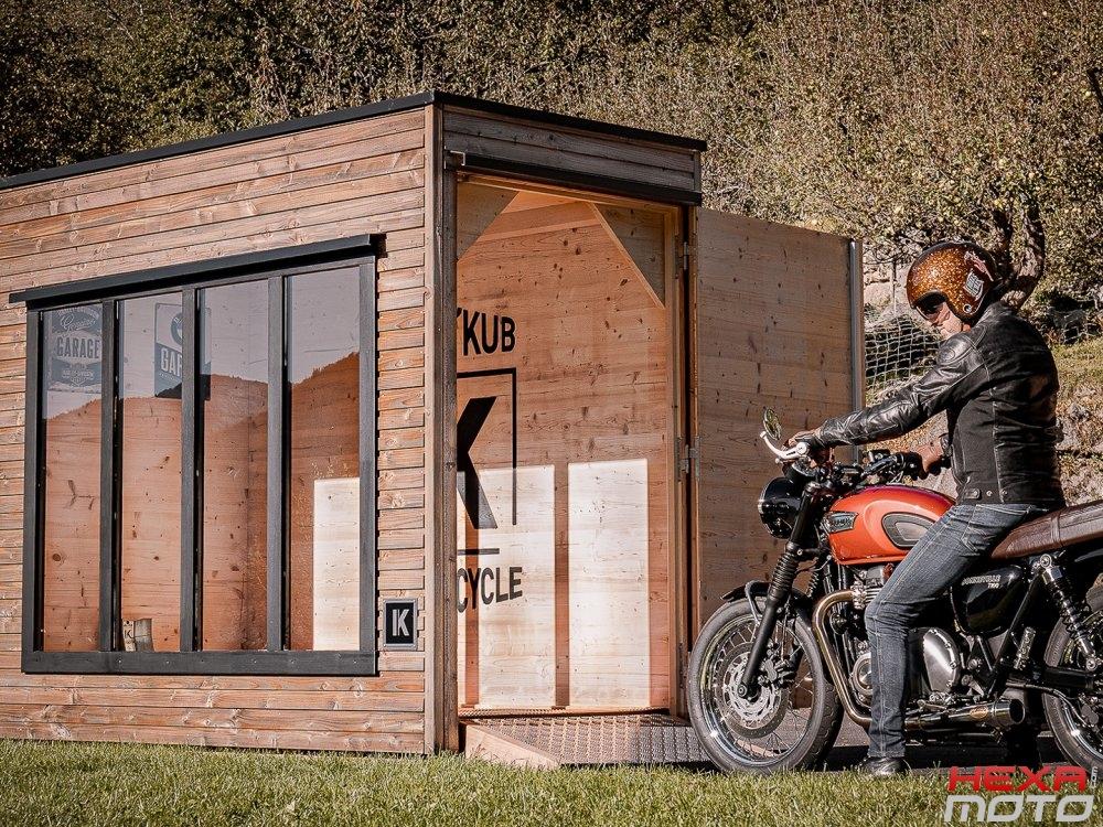 Montage abris moto fait maison - Hexa Moto