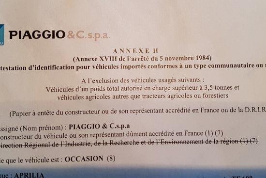 Immatriculé un 50cc mis en circulation avant le 1er juillet 2004