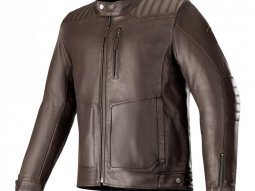 Blouson cuir Alpinestars Crazy Eight marron tabac