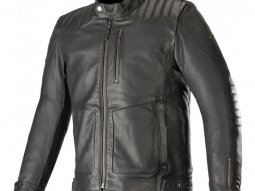 Blouson cuir Alpinestars Crazy Eight noir