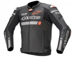 Blouson cuir Alpinestars Missile Ignition noir (Compatible Tech-Air) -