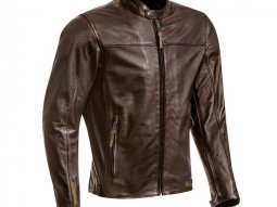 Blouson cuir Ixon Crank Air marron