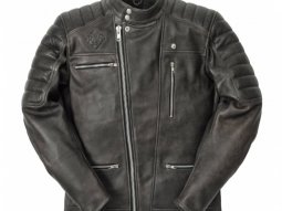 Blouson cuir Ride And Sons EMPIRE Cow Skin noir