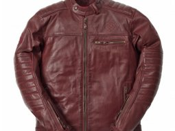 Blouson cuir Ride And Sons GETAWAY Cow Skin bordeaux