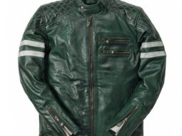 Blouson cuir Ride And Sons MAGNIFICENT Buffalo Skin Midnight bleu