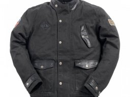 Blouson textile Ride And Sons RUNAWAY Waxed noir
