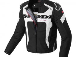 Blouson textile Spidi WARRIOR H2OUT noir / blanc