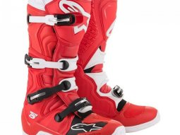 Bottes cross Alpinestars Tech 5 rouge / blanc