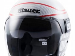 Casque Blauer POD Graphic B Blanc Brillant / Rouge