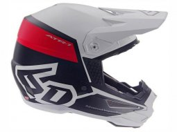 Casque cross 6D ATR-1 Flight blanc / rouge