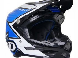Casque cross 6D ATR-2 Strike bleu / blanc