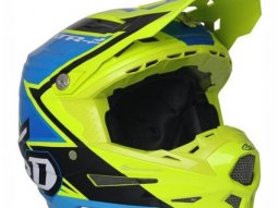 Casque cross 6D ATR-2 Strike jaune / bleu