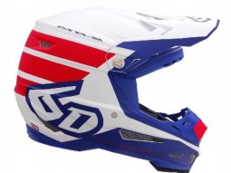Casque cross 6D ATR-2 Stripe rouge / blanc