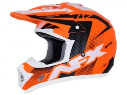 Casque cross AFX FX17 HOLESHOT orange / noir / blanc mat