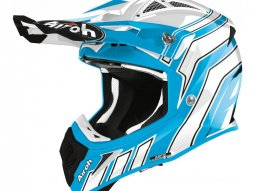 Casque cross Airoh Aviator Ace Art azure mat
