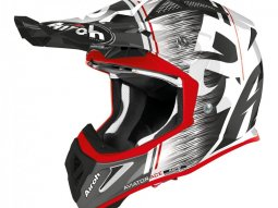 Casque cross Airoh Aviator Ace Kybon rouge brillant
