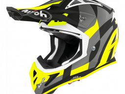 Casque cross Airoh Aviator Ace Trick jaune mat
