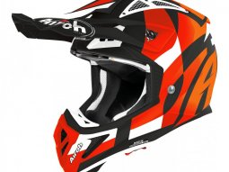 Casque cross Airoh Aviator Ace Trick orange mat