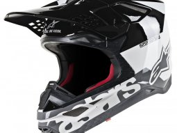 Casque cross Alpinestars Supertech S-M8 Radium blanc / noir / gris