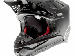 Casque cross Alpinestars Supertech S-M8 Solid noir mat