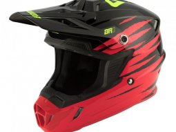 Casque cross Answer AR1 Pro blanc rouge / acide / noir