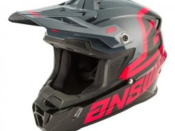 Casque cross Answer AR1 Voyd noir / gris / rose