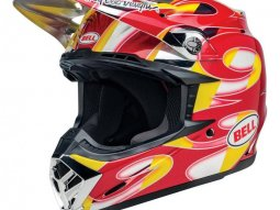 Casque cross Bell Moto 9 Mips McGrath Replica brillant rouge / jaune / chr
