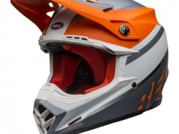 Casque cross Bell Moto-9 Mips Prophecy mat orange / noir / gris