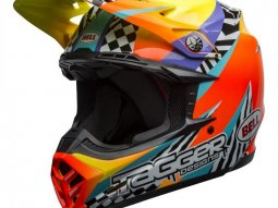 Casque cross Bell Moto-9 Mips Tagger Breakout orange / jaune
