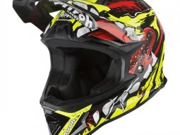 Casque cross enfant Airoh Archer Grimm jaune / rouge brillant