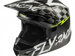 Casque cross enfant Fly Racing Kinetic Stretch noir / blanc / jaune fluo m