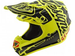 Casque cross enfant Troy Lee Designs SE4 Polyacrylite Factory jaune -