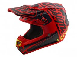 Casque cross enfant Troy Lee Designs SE4 Polyacrylite Factory rouge -