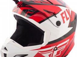 Casque cross Fly Racing Elite Guild rouge / blanc / noir