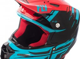 Casque cross Fly Racing F2 Carbon Forge rouge / bleu / noir