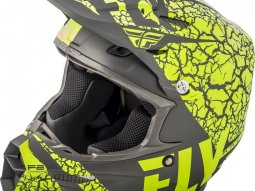 Casque cross Fly Racing F2 Carbon Fracture gris / jaune fluo