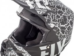 Casque cross Fly Racing F2 Carbon Fracture noir / blanc mat
